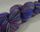 NEW Hand Dyed DK Weight Yarn Polworth and Silk - Tango by Yarn Hollow - Blue Sheen Mod Multi Color 3 ounces 285 yards