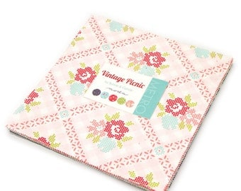 Vintage Picnic Layer Cake by Bonnie and Camille for Moda Fabrics, 42 10 inch squares