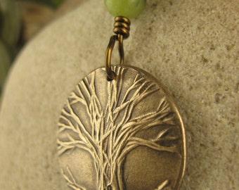 Tree of Life Pendant in Bronze, One Tree, Necklace, Tree of Life Jewelry, Irish Celtic Jewelry