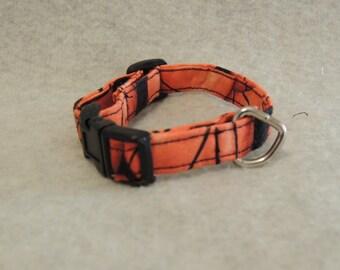 """X Small Dog Collar 1/2"""" Wide 6-8"""" Basketball"""