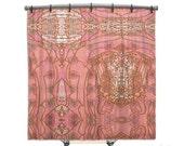Pink Bohemian Shower Curtain, BOHO Chic style, Hippie Chic, Shower curtain, Fabric shower curtain, Bath Decor, Home Decor, shabby decor