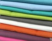 SALE Solid Cotton Fabric Half yard Bundle 4.5 yards total