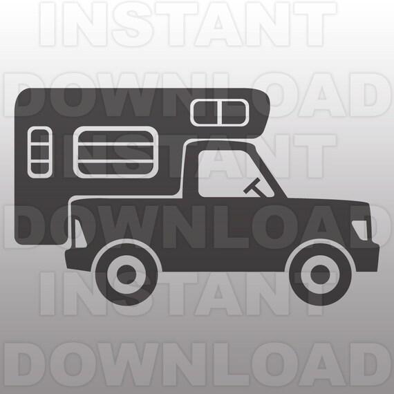 Truck Camper Svg Fileretro Camper Svg Filecamping Svg