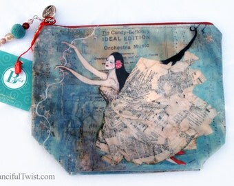 Bright Star of Love Large Cosmetic Bag