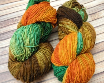 Steampumpkin Id Squishy Singles Hand Dyed Yarn - In Stock