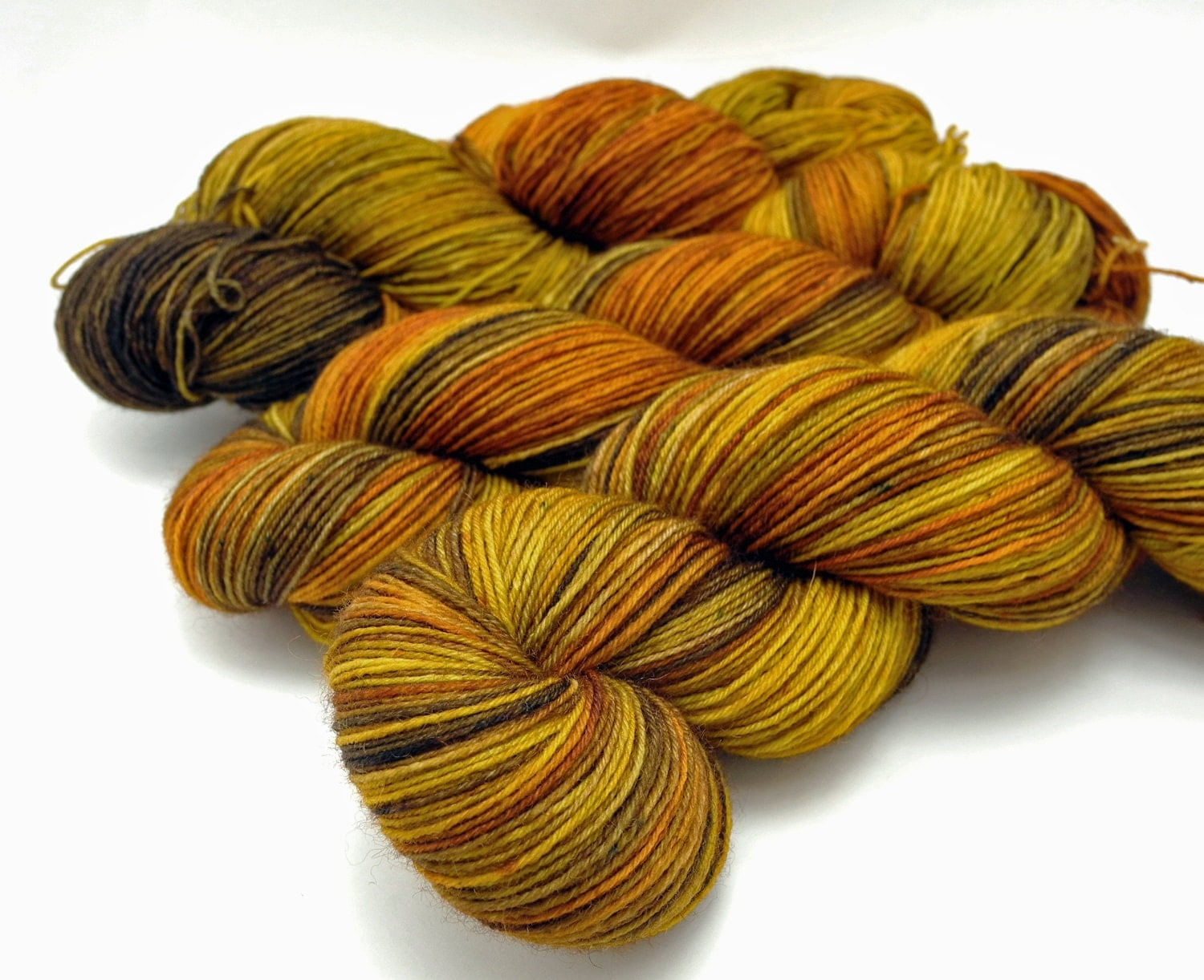 Hidden Tiger Variegated Hand Dyed Yarn Dyed by DyeabolicalYarns