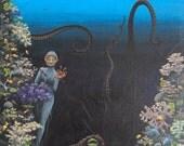 RESERVED - Ocean Reef - Mama - original 16 x 12 acrylic portrait