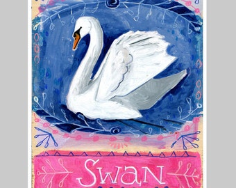 Animal Totem Print - Swan