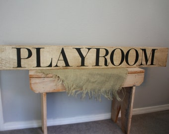 PLAYROOM Sign Large Farmstyle