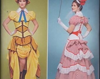 Simplicity 8159 Misses Victorian Steampunk Costume Skirt Blouse Bustle Corset UNCUT
