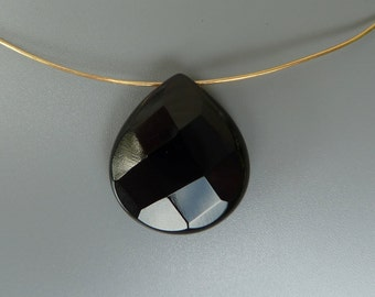 Black Onyx Pendant Bead, Black Onyx Teardrop Bead, 20MM Black Onyx Pendant, Black Onyx Briolette Bead, Black Onyx Faceted Teardrop Pendant