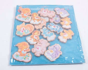 Huge Lot MIP Counter Display Care Bear Cousins Wooden Magnets With Background Display ~ The Pink Room ~ 161105