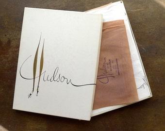 Hudson Garter Stockings Size 10-1/2