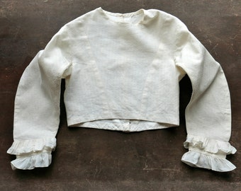 Victorian Child's Cotton Pique Bodice Approximate Size 4 5 6 Years Old