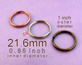 5 pieces 21.6mm split rings / key rings (available in nickel, antique brass, and copper finishes)