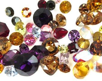 Random Assortment of Swarovski Rhinestone Crystals - Warm Mix (6X) (S536)