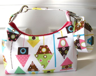 Mini Handbag with Birdhouse Design