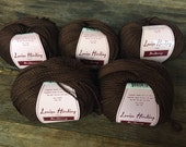 Louisa Harding Mulberry Silk 5 skeins shade 11 chocolate brown