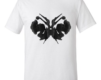 Psychology Gift Rorschach Ink Blot Artwork Men' s T Shirt Style 27