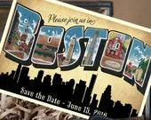 Vintage Large Letter Postcard Save the Date (Boston, MA) - Design Fee