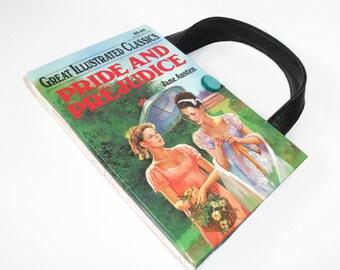 Book Purse Jane Austen Pride and Prejudice Book Handbag, Altered Recycled Book, Handmade Clutch
