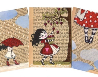 Postcard set - art postcards - for any occation