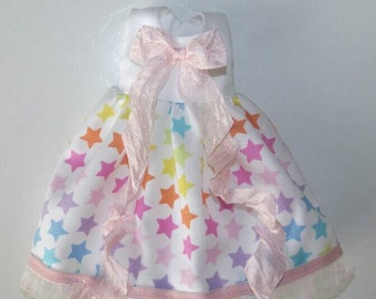 PREORDER Rainbow Star dress for Blythe, Pullip doll
