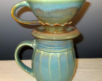 Pour Over Melitta Coffee Mug Set in Garden Colors