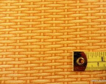 "One Fat Quarter Cut Quilt Fabric, Golden Tan Rattan/Basket Weave, ""Harvest Botanicals"", Jane's Garden, Henry Glass, Sewing-Quilting Supplies"