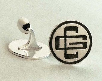 Personalized Company Logo Sterling Cufflinks Father's Day