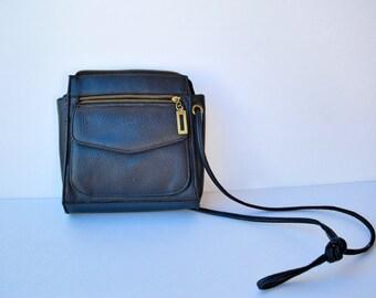 long strap purse / faux leather POCKETS bag
