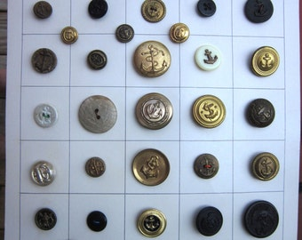Vintage Anchor Buttons - instant collection