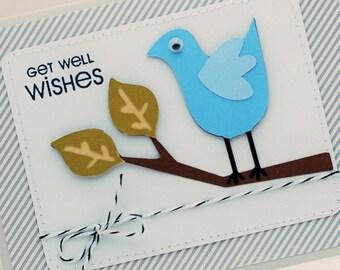 SALE Blue Bird Get Well Card