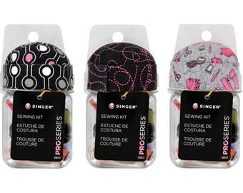 Singer Sewing SUPPLIES - Pro Series Sewing Kit In Jar with Pincushion Lid