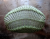 Fern Stone, Crochet Lace Stone, As seen in Interweave Crochet, Handmade, Home Decor, Wedding, Green Thread