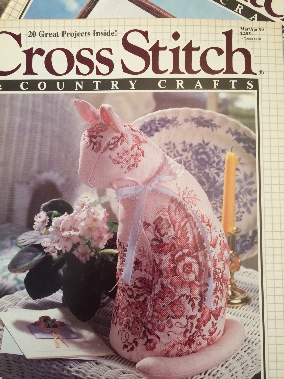Cross stitch country crafts magazine back issues - Cross Stitch And Country Crafts Magazines 1990 Complete Year 6 Issues Sold By Lagunalane