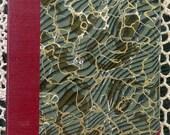 Writing Journal Travel Journal Wedding Guest Book Lined Paper Antique Book Marbled Handbound