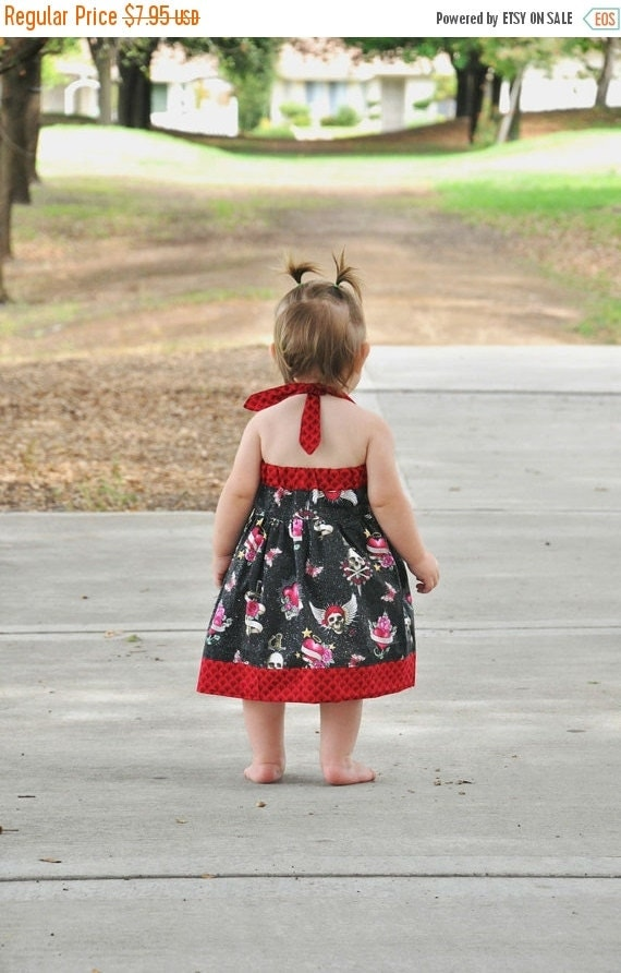 30% OFF Baby and Toddler Dress Pattern - Sweet Summer Halter Dress - PDF Sewing Pattern