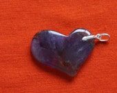 Genuine, Authentic Auralite-23 HEART PENDANT w. Sterling Silver Bail - Ideal Gift for any Occasion #1401