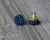 Navy Blue stud earrings