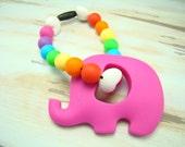 Silicone Bracelets, Silicone Teething Bracelet, Silicone Teething Toy, Elephant Teether, Baby Teething Bracelet, Chew Bracelet, Chew Beads