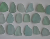 18 pieces of smooth beach sea glass sgl10