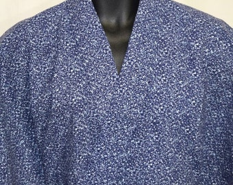 Vintage Japanese Yukata Kimono Robe Summer Cotton Men's - Speckled Snow
