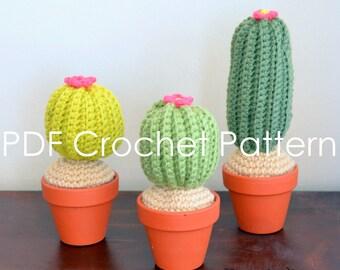 Cute Cactus Crochet Amigurumi PDF Pattern