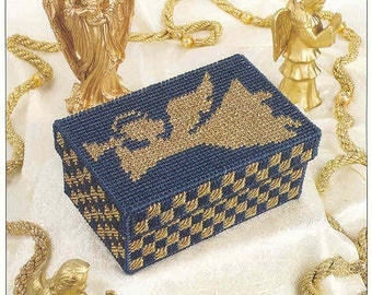 Trumpeting Angel Box ~  plastic canvas pattern  ~  Annie's