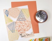 Thank You PYRAMID design greeting card
