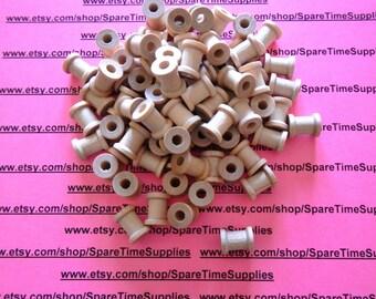 """SP5000WW100  Wood  Spools  - 5/8"""" tall x 1/2"""" wide w/ 7/32"""" hole - 100 pcs"""
