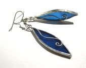 Pointed Turquoise - Stained Glass Earrings - Abstract Womens Accessories Wire Lightweight Jewelry Nickel-Free Hooks (READY TO SHIP)
