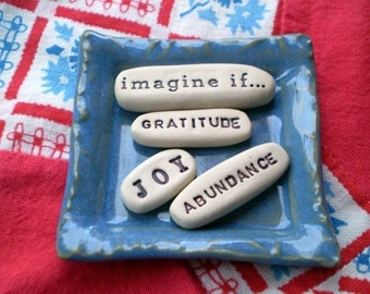 Inspirational Words, Affirmation Stones, Word Pebbles, Gift Set