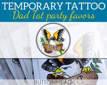 Funny Fathers Day Gift - Dad Temporary Tattoos - Set of 6